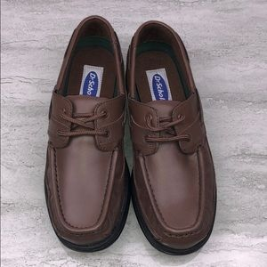 NWOB DR. SCHOLL'S Boat Shoes Brown